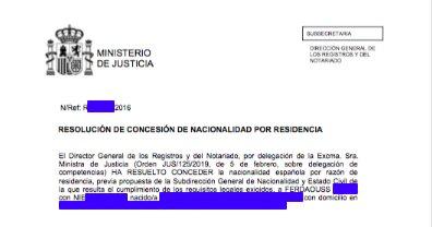 Concesiones de Nacionalidad Española Ferdaouss