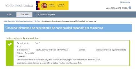 Concesiones de Nacionalidad Española ARAM
