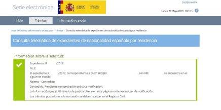 Concesiones de Nacionalidad Española Hideki