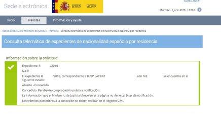 concesión de nacionalidad española Latifat