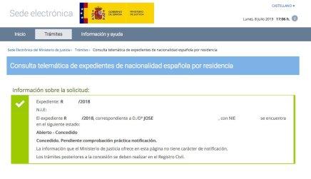 Resoluciones de Concesión de Nacionalidad Española Jose