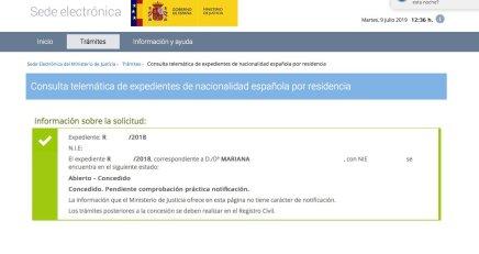 Resoluciones de Concesión de Nacionalidad Española Mariana