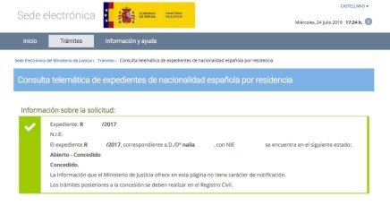 Concesión de Nacionalidad Española de NAILA