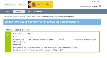 Concesión de Nacionalidad Española de SHAH