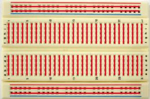 Protoboard e as conexões entre os furos