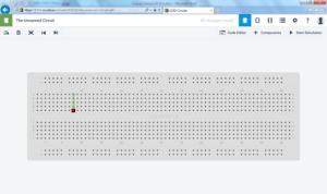 Tela inicial da simulação de circuitos no 123d.circuits.io