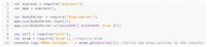 Código Node. JS