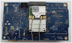 Montagem no verso da Intel Galileo