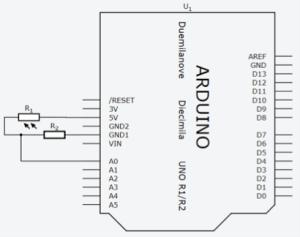 Diagrama com o LDR