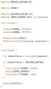 Código de exemplo
