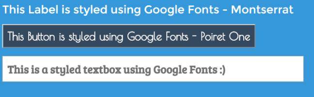 Google Fonts in ASP.NET