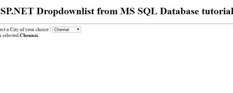 ASP.NET fill Dropdownlist from MS SQL Server Database