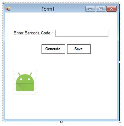 Creating Barcode Image in C# Form 1