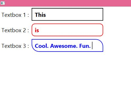 WPF Textbox With Rounded Corners • ParallelCodes