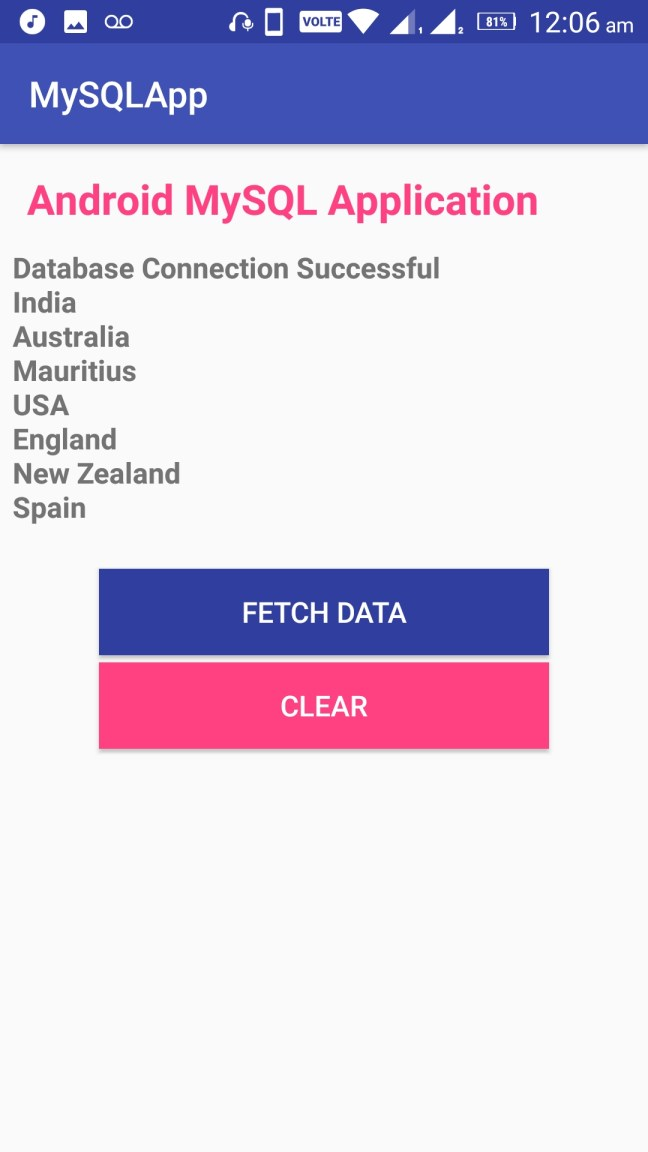 Android Connect MySQL Database Programmatically 02
