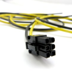26in two wire only pci e cable made of high quality 14 awg stranded copper wire [ 1200 x 900 Pixel ]
