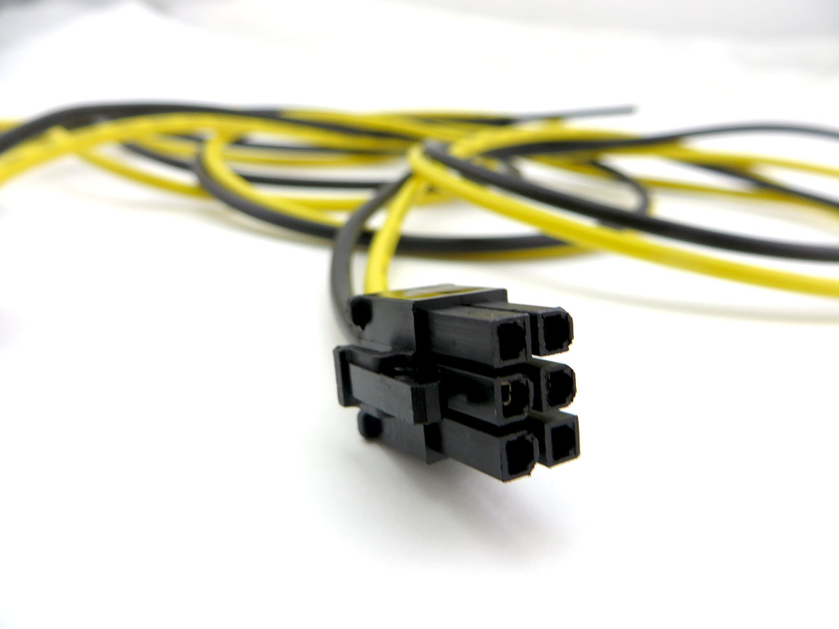 hight resolution of 26in two wire only pci e cable made of high quality 14 awg stranded copper wire