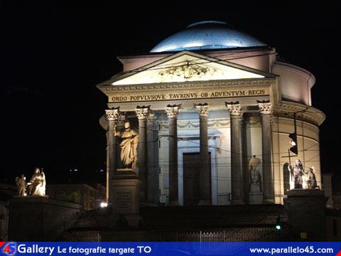 Torino Chiesa della Gran Madre  Illuminazione notturna  Parallelo45 Gallery  Torino e il Piemonte in foto