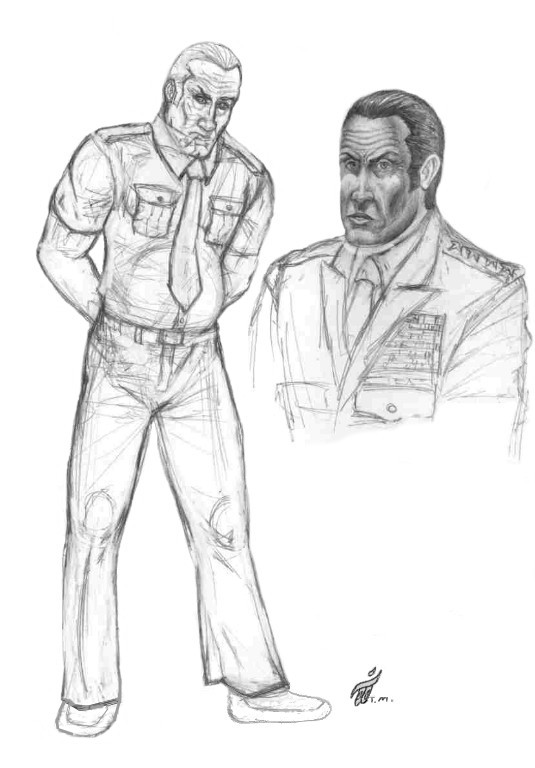 General Harry Faldwell Character Sketches