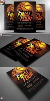 The Final Four Basketball Flyer Template PSD