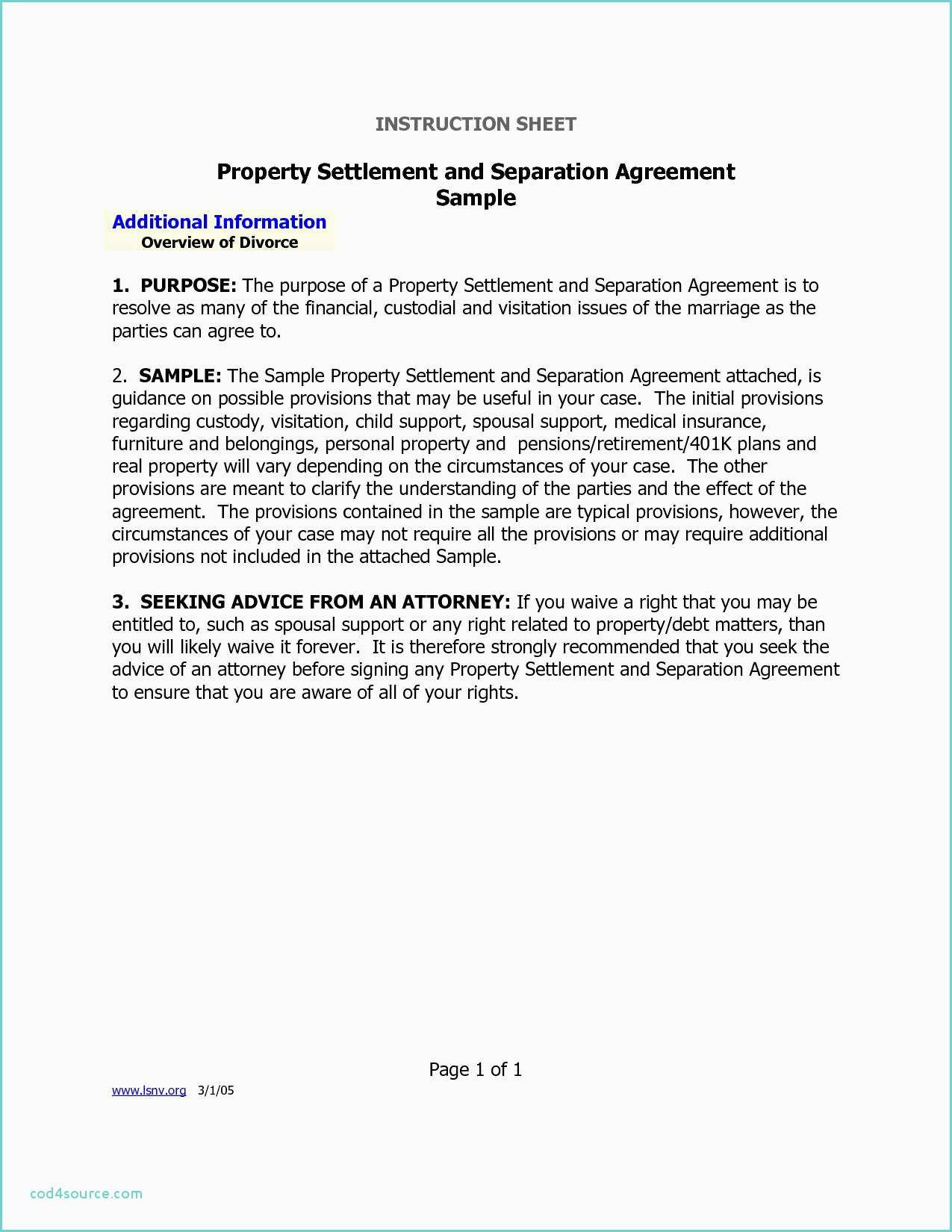 Divorce Stipulation Agreement Sample