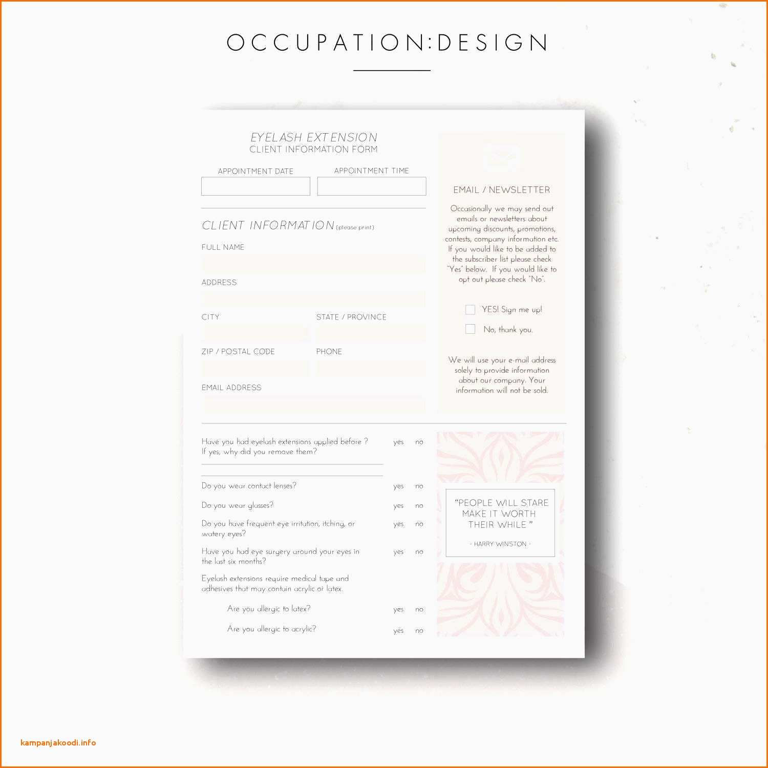 Eyelash Extension Gift Certificate Template