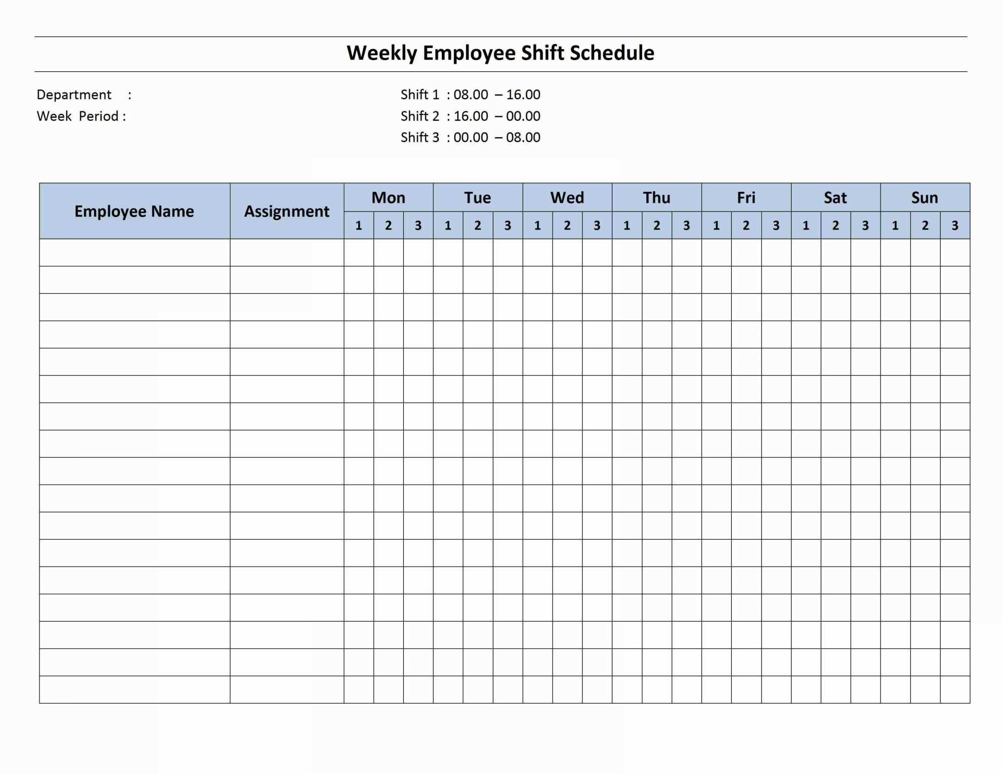 Warehouse Cleaning Schedule Template Excel