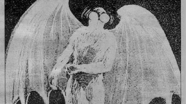 Mothman newspaper illustration