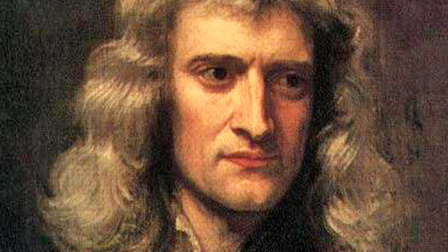 Portrait of Isaac Newton, by artist Sir Godfrey Kneller
