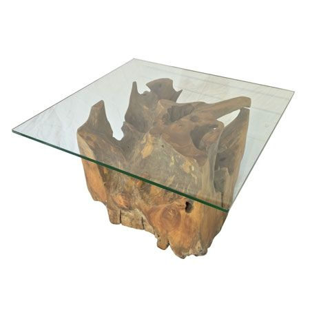 Java Teak Root Square Glass Top Coffee Table Teak Root Furniture Solid Teak Root Side Table Coffee Table