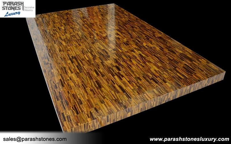 round wood kitchen table elegant cabinets tiger eye tiles & slabs (blue - golden)