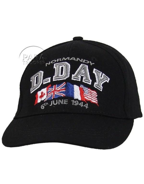 Cap Baseball -day Normandy Black - Paratrooper
