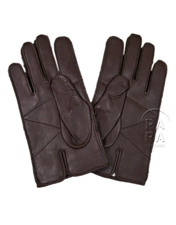 Gloves Wool Od Leather Palm - Paratrooper