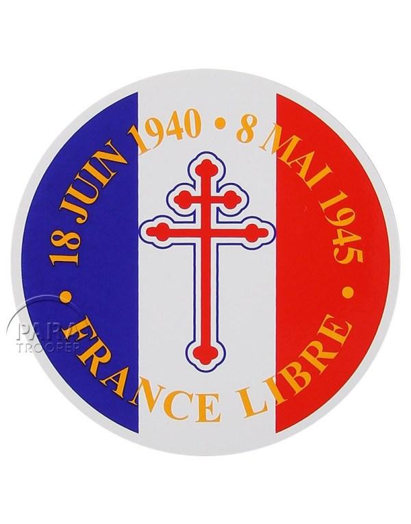 Sticker France Libre - Paratrooper
