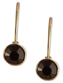 Σκουλαρίκια από επιχρυσωμένο ασήμι με πέτρες Swarovski