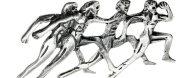 Ασημένια καρφίτσα αρχαιοελληνικό αντίγραφο δρομείς