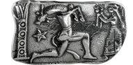 Ασημένια καρφίτσα αρχαιοελληνικό αντίγραφο Μινώταυρος