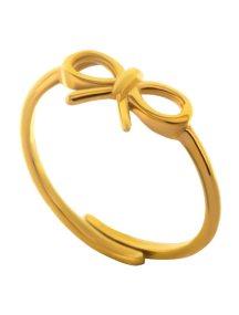 Δαχτυλίδι φιογκάκι από επιχρυσωμένο ασήμι