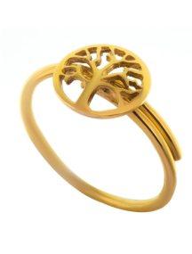 Δαχτυλίδι δέντρο ζωής από επιχρυσωμένο ασήμι