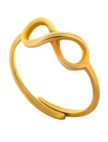 Δαχτυλίδι άπειρο από επιχρυσωμένο ασήμι