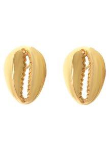 Σκουλαρίκια κοχύλι από επιχρυσωμένο ασήμι summer collection