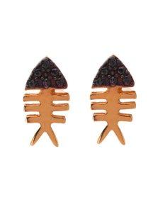 Σκουλαρίκια ψαροκόκκαλο summer Collection από ρόζ επιχρυσωμένο ασήμι