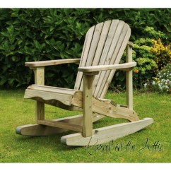 Metal Adirondack Chairs Costco Dining Chair Covers Solid Wood Rocking Parcel In The Attic