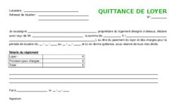 Exemple De Modèle Type De Quittance De Loyer Vierge Gratuit
