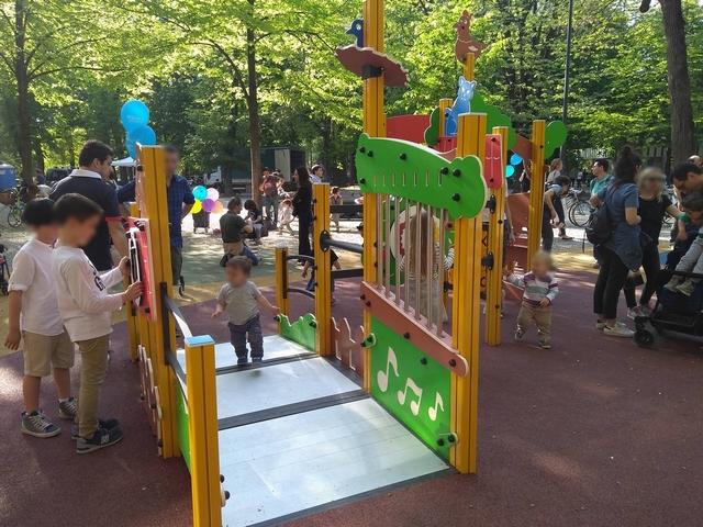 Nuova area giochi giardini Indro Montanelli