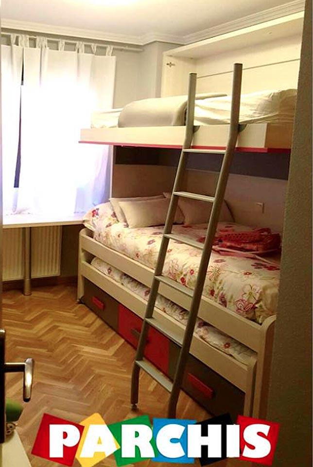 Dormitorios con camas abatibles para paredes de pladur