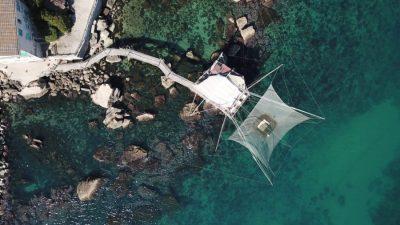 Trabocco Punta Tufaro vista aerea