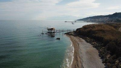 Trabocco Punta Mucchiola vista nord con San Vito sullo sfondo