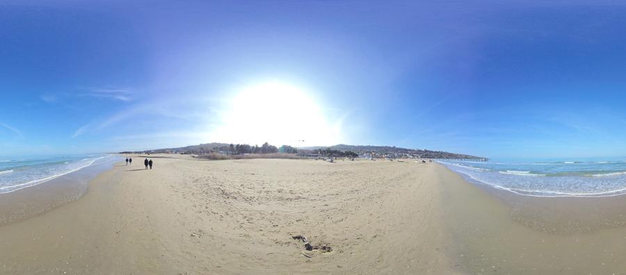 panorama spiaggia di vasto marina