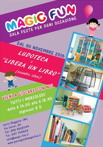 Affitto sala per feste  Magic Fun Cerro Maggiore  Magic Fun